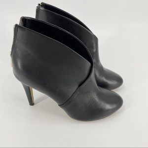 Aldo black leather ankle heeled booties
